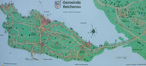 Mapka poloostrova Reichenau