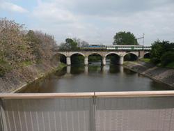 Pohled z lávky na viadukt